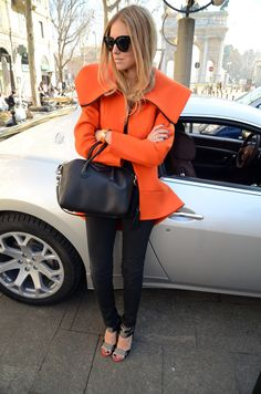 The Simply Luxurious Life®: Style Inspiration: Colorfully Chic New Fashion Trends, Love Fashion, High Fashion, Fashion Looks, Fashion Outfits, Fashion Clothes, Street Fashion, Trendy Outfits, Fashion Ideas