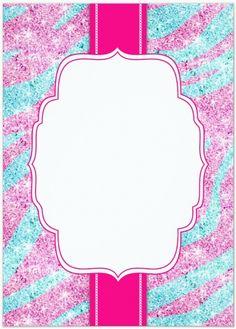 teal & pink glitter zebra - uploaded by Lynn White