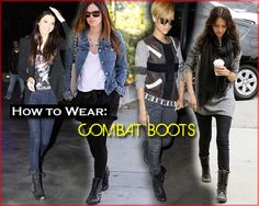 combat boot dressy outfit ideas | Combat boots!