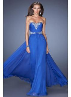 USD$129.99 - 2014 Classy Sweetheart Neckline With Vintage Inspired Bead Patterning Pick Up Long Chiffon Skirt - www.weddinggownyes.com