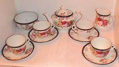 Image detail for -antique german cobalt floral child s antique toy tea set