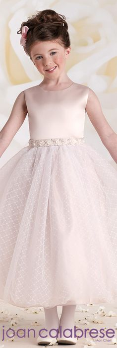 Joan Calabrese for Mon Cheri - Style No. 115320 #flowergirldresses calabresegirl.com