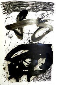 """Antoni Tàpies, """"Calligraphique"""", lithographie"""