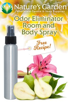 Odor Eliminating Spray Recipe by Natures Garden