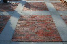 Brick Masonry, Brick Walkway, Brick Paving, Concrete Patio, Brick Border, Pavement Design, Bluestone Pavers, Decks And Porches, Brick And Stone