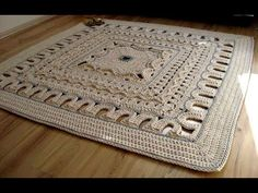 Прямоугольный коврик из шнура - YouTube