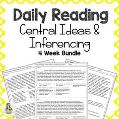 Daily Reading: Central Ideas and Inferencing Bundle 4 Weeks