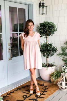 Jillian Harris, Summer Wear, Pink Dress, Annie, Fashion Beauty, Fashion Dresses, Cold Shoulder Dress, Cute Outfits, Summer Dresses