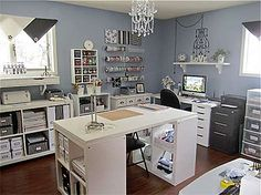 Love the soothing nature of this Craft Room