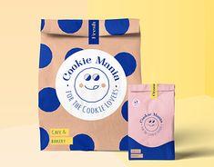 Cookies Branding, Bakery Branding, Bakery Packaging, Food Branding, Cookie Packaging, Bakery Logo, Brand Packaging, Packaging Design Inspiration, Graphic Design Inspiration