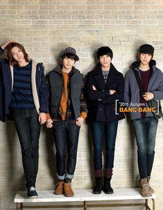 CN Blue and Seo Hyo Rim for Bang Bang Fall 2011 Catalogue