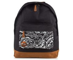 Mi-Pac Pocket Print Paisley Backpack - Black