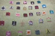 Scrabble Tile Pendants and Glass Marble Magnets
