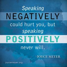 Speaking Positively.