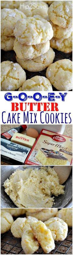 This is a great cookie recipe to make if you're looking for softy and chewy cookies to enjoy with the family. Feel them melt in your mouth as you take your first b(Baking Cookies With Kids) Cake Mix Cookie Recipes, Butter Cookies Recipe, Cookie Desserts, Yummy Cookies, Just Desserts, Delicious Desserts, Dessert Recipes, Yummy Food, Cake Recipes