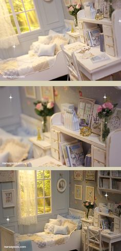 Nerea Pozo Art: ♥ Handmade miniature diorama CLOUDY MORNING BEDROOM ♥