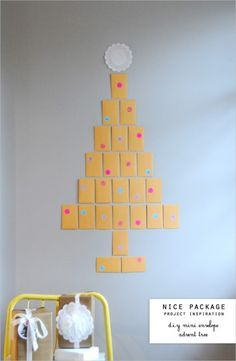 25 Adorable DIY Advent Calendars to Make. Could put it on his door.
