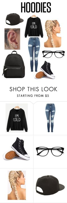 """""""Laid back"""" by kayyylabear ❤ liked on Polyvore featuring Topshop, Converse, EyeBuyDirect.com, NIKE, MANGO and Hoodies"""