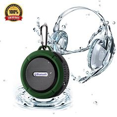 Winstion Wireless Bluetooth Waterproof Outdoor/ Shower Speaker with 5W Speaker/Suction Cup With Microphone Hands-Free Speakerphone (Army Green) ** Want to know more, click on the image.