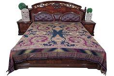 Indian Throw Purple Reversible Bedspread Indian Bedding King Mogul Tapestry Blanket Mogul Interior http://www.amazon.ca/dp/B0154F2R60/ref=cm_sw_r_pi_dp_jmN8vb0RD1X0X #bedding #bedspreads #bohobedcover