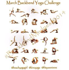 March back bend/flexibility challenge. Starting on 3/1