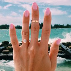 Best Engagement Ring Selfies: Round-Cut Solitaire Ring Selfie at the Seaside Best Engagement Rings, Wedding Engagement, Engagement Photos, Wedding Bands, Round Solitaire Engagement Ring, Engagement Photography, Wedding Ring, Wedding Goals, Dream Wedding