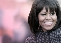 Totally loving the #bangs on our First Lady!