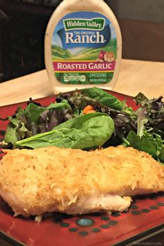 Roasted Garlic Ranch and Shredded Parmesan Baked Chicken cooked