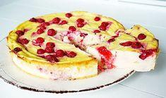 slanke cheesecake met rode bessen