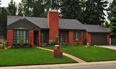 Brick style homes, red brick craftsman red brick ranch style house ...