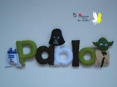 Nombre en fieltro de Star Wars
