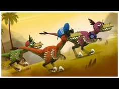 """""""Velociraptor,"""" Dinosaurs Songs by StoryBots Dinosaurs Preschool, Dinosaur Activities, Preschool Activities, Dinosaur Projects, Dinosaur Crafts, Preschool Learning, Dinosaur Songs For Kids, Dinosaur Videos, Miniatures"""