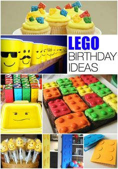 Lego Birthday Party Ideas 16 crafts, activities, games and decorations. adorable for a birthday party or even just a play date with friends. Lego Birthday Invitations, Lego Birthday Party, Birthday Crafts, Man Birthday, Boy Birthday Parties, Lego Parties, 5th Birthday Ideas For Boys, Lego Party Games, Partys