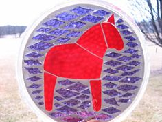 Dala Horse Mosaic, Candle Holder, Wine Bottle Coaster...the possibilities are endless!