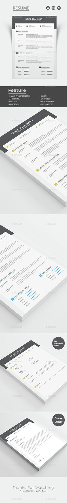 Resume Pinterest Free cover letter, Colours and Creative resume - elegant resume templates