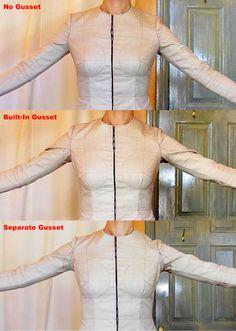Fitted Sleeve Sloper: part 2 – built-in gusset - Overflowingstash