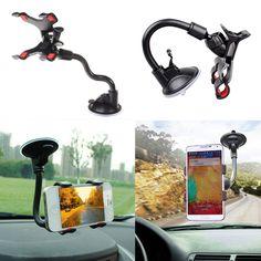 Vendita calda Universale 360 Rotazione supporto Del Telefono Dell'automobile Finestra Del Parabrezza Car Holder Mount Cradle Holder Lungo Braccio/collo