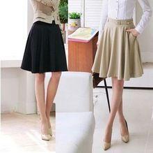 Skirts Womens 2015 Spring Summer Plus Size Skirt Casual Slim Pleated Skirts Skirts Female Fashionable Saias Femininas(China (Mainland))
