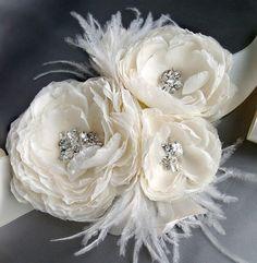 Vintage Bridal Accessories  ♥ Gorgeous Wedding Bridal Sash | Ozel Tasarim Tasli Kemer
