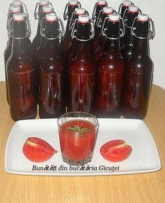 Suc de rosii - Bunătăți din bucătăria Gicuței Hot Sauce Bottles, Salsa, Pudding, Jar, Desserts, Food, Syrup, Banana, Canning