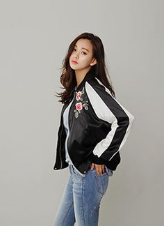 Flower embroidery casual jacket from dahong.com