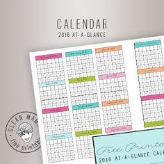 2016 AT-A-GLANCE plus lots more free printables