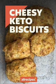 """Cheesy Keto Biscuits 