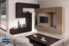 Doable Living Room Decor and Interior Design Tips Corner Tv Shelves, Corner Tv Unit, Tv Unit Design, Tv Wall Design, House Design, Tiny Living Rooms, Living Room Modern, Living Room Decor, Tv Furniture