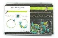 """Les bracelets Sorbet """"vert"""", quand on les voit, on rêve de mer tropicale et de palmiers... #ladroguerie #bijou"""