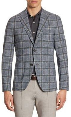 Saks Fifth Avenue x Traiano Monopetto Check Blazer
