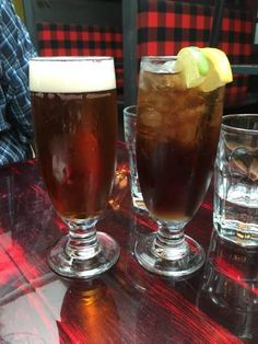 Draught beer and a Long Island Iced Tea, Archibald Microbrasserie  |  975, Boulevard Romeo-Vacho