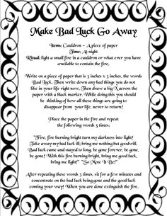 Make Bad Luck Go Away, good fortune spells, wish spells that work instantly, free good luck spells Magick Spells, Wicca Witchcraft, Candle Spells, Healing Spells, Truth Spell, Good Luck Spells, Easy Spells, Banishing Spell, Protection Spells