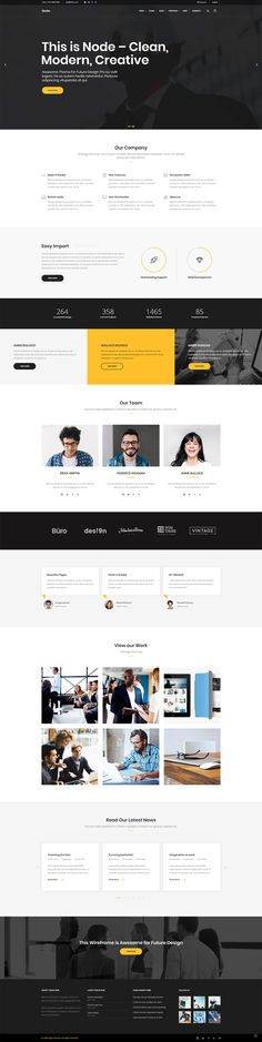 Node WordPress theme is yours to play with and build a perfect business website. Product Branding, Business Website, Creative Business, Wordpress Theme, Ecommerce, Conference, Web Design, Layout, Concept