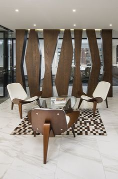 Coalesse CH07 Shell Chairs are a unique craft piece to include in a reception or casual lounge space.